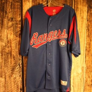 MLB Rangers Dynasty Large Jersey 100% Polyester